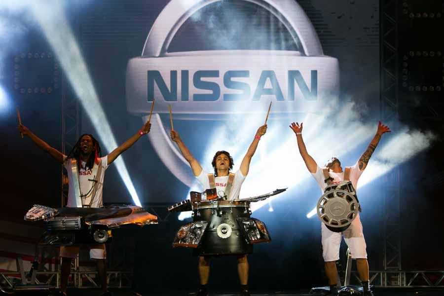 La música oficial del camión olímpico fue creada a partir de piezas de un Nissan Kicks.