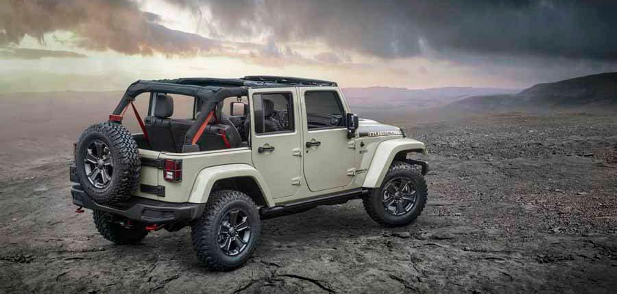 Jeep Wrangler zona trasera