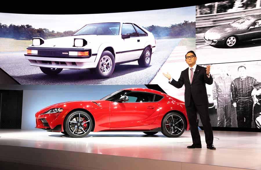 Akio Toyoda en evento Toyota