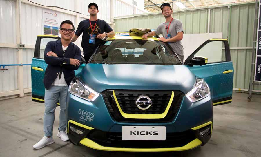 Equipo creativo Nissan Kicks Surf